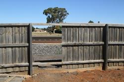 Melton: Hole in the fence where locals cross the tracks