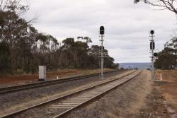 Signals for up trains at the up end of Parwan Loop