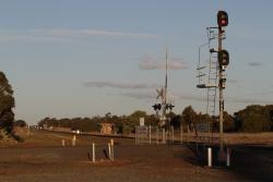 Signals for up trains arriving at Parwan Loop