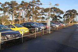 Car parking right up against the platform