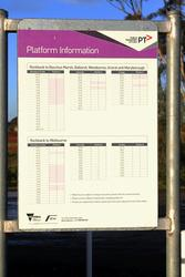 Platform information poster at Rockbank