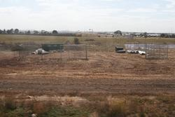Site compound for duplication works at Rockbank station