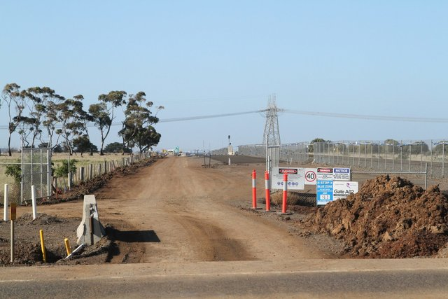 Track duplication works east of Hopkins Road, Rockbank