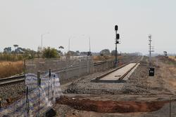 Track duplication works west of Hopkins Road, Rockbank