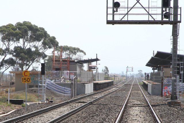 150 km/h speed restriction for down trains passing through Rockbank
