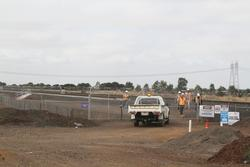 Track duplication works stop short of the Hopkins Road level crossing