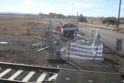 Installing automatic pedestrian gates at the Mount Cottrell Road level crossing