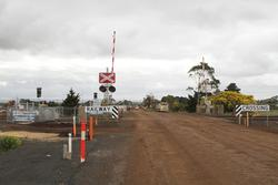 Yet to be commissioned pedestrian crossing in the middle of nowhere at Paynes Road, Rockbank