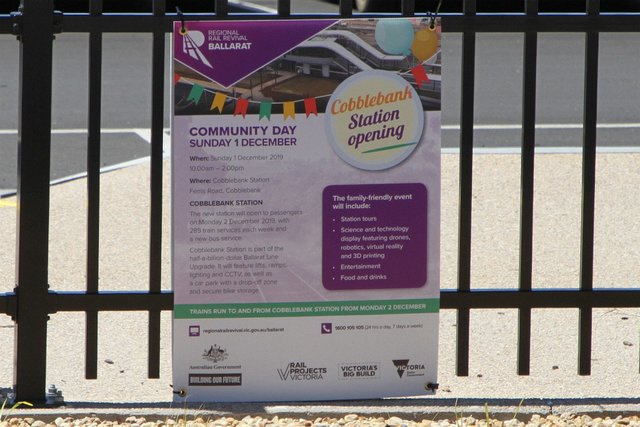 'Cobblebank station opening community day' poster
