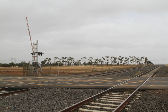 Double track across the Hopkins Road level crossing