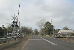 Bungaree-Wallace Road level crossing in Wallace
