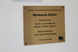 Plaque marking the official opening of Wendouree station on 12 June 2009