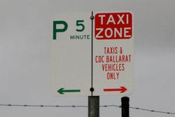 Wendouree: 5 minute parking and taxi zone