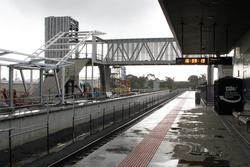 Wendouree: Southern steps between the new platform and new footbridge taking shape