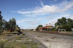 Talbot station and goods yard looking up the line
