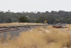 Down end of Talbot Loop, new track panels in place for when it is abolished