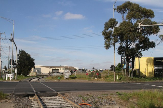 Track for the tip siding lifted at the Somerville and Market Road level crossing