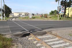 Relaid track for the quarry siding at the Somerville and Market Road level crossing