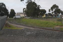 Apex Quarry: Tracks head west from the main line to pass over Somerville Road