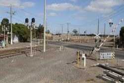 Boom gates come down at the Somerville Road level crossing