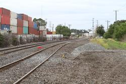 Disused loop siding at Little Brooklyn has been removed