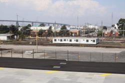 Asphalt covers the three tracks in the Sadleirs Logistics depot