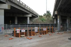 Foundations in place to widen the twin freeway overpasses