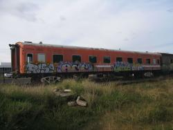Privately owned ex-V/Line carriage BS203 stored at South Geelong