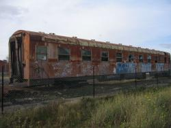 Privately owned sleeper carriage BRB89 stored at South Geelong