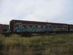 Privately owned Overland sleeper Nankuri stored at South Geelong