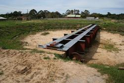 Unfinished turntable at Drysdale