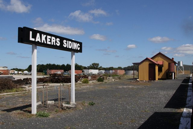 Down end of the island platform at Lakers Siding
