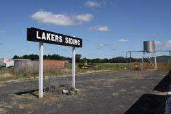 Up end of the island platform at Lakers Siding