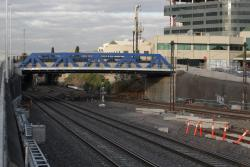 Albert Street bridge completed, with room for six tracks to pass beneath