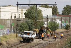 Fixing the track at Middle Footscray, located above a stormwater drain