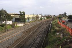 Looking west from the Albert Street bridge, the suburban tracks having been relaid