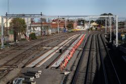 Short length of the future suburban tracks in place
