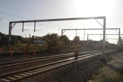 Suburban tracks removed, to be slewed north to make room for the new RRL tracks