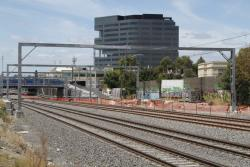 Looking towards Footscray with the suburban tracks on their new alignment