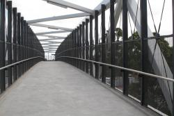 Looking across the new HV McKay footbridge span