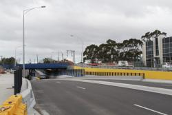 Completed road under rail grade separation on the Sunbury line at Anderson Road