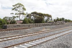 Used concrete sleepers line for former alignment towards the Anderson Road level crossing