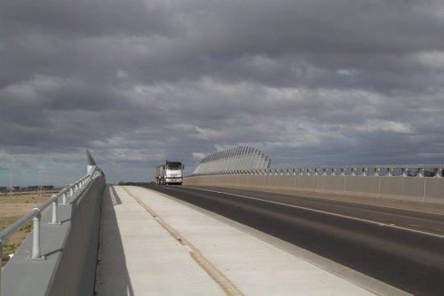 Ballarat line bridge on the Christies Road extension
