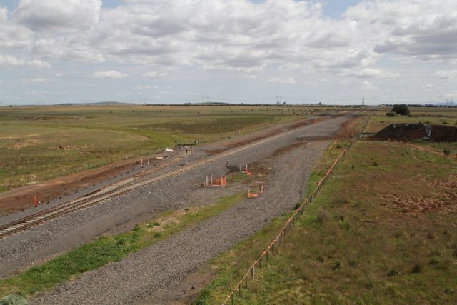 New set of points installed at the Boral quarry siding on the Ballarat line