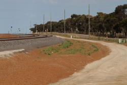 Access track follows the RRL tracks south along the Christies Road extension