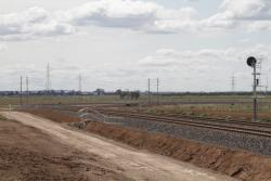 RRL tracks curve north-east from Christies Road extension towards the Ballarat line