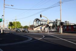 Footscray Station: Footscray station forecourt from the Irving / Leeds Street corner