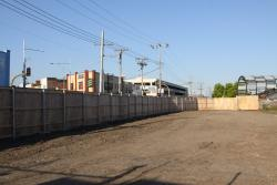 Footscray Station: Behind the plywood fence on Irving Street