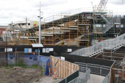 Footscray Station: West side of the new entrance to the station from Irving Street
