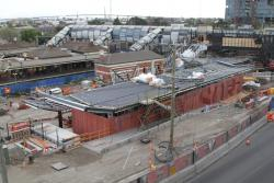 Footscray Station: New station building beside the future pair of suburban platforms